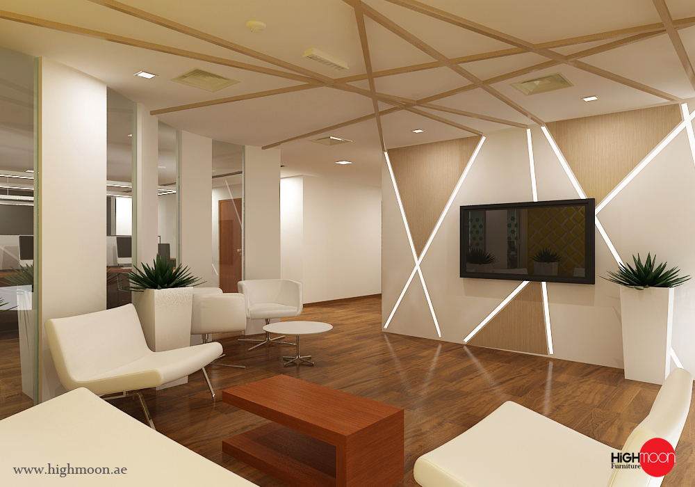 Office fit out works in dubai uae highmoon interiors for Office design works