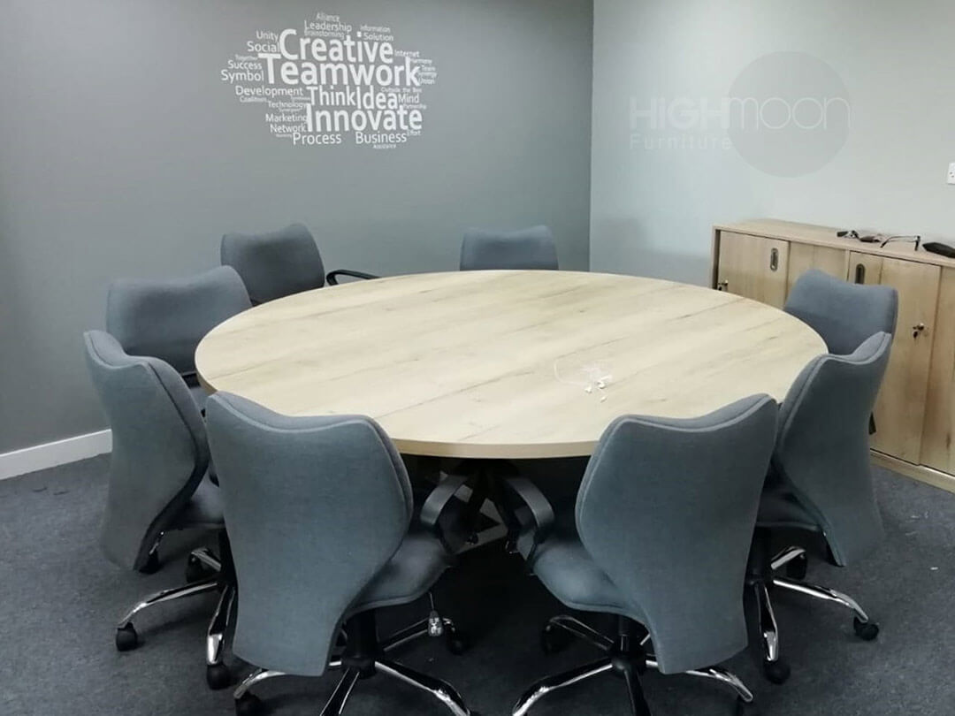 Round Meeting and Conference Table
