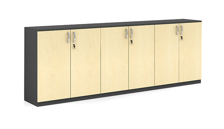Low Height 6 Door Cabinet